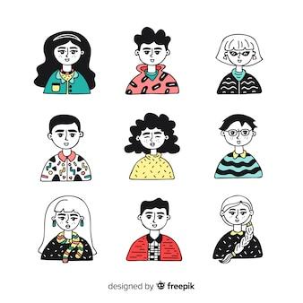 Kolekcja avatar ludzi