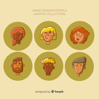 Kolekcja awatarów osób
