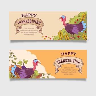 Kolekcja banerów dziękczynienia