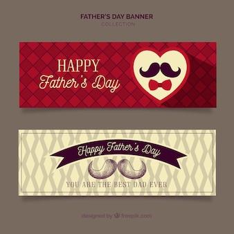 Kolekcja banerów dzień ojca z wzorem