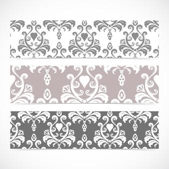 Kolekcja banerów gorizontal w stylu baroku