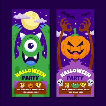 Kolekcja banerów halloween