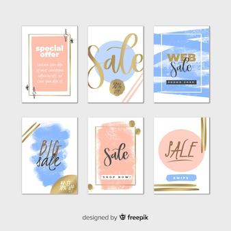 Kolekcja banerów internetowych sprzedaży