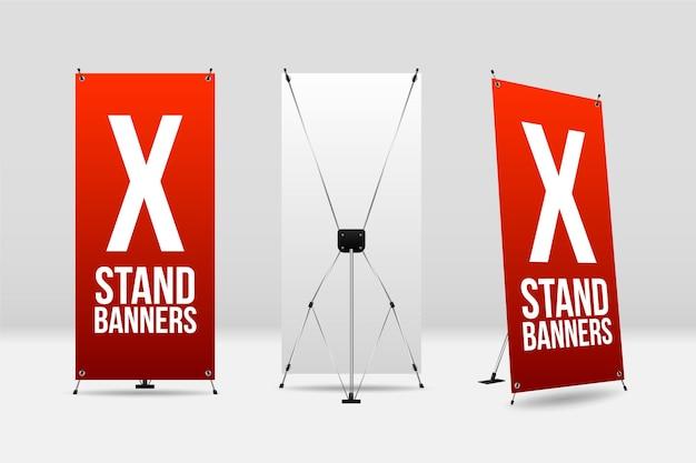 Kolekcja banerów na stoisku x.