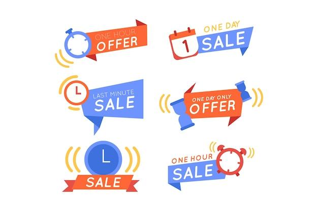 Kolekcja banerów odliczanie sprzedaży
