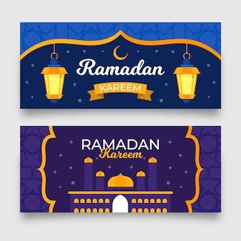 Kolekcja banerów ramadan