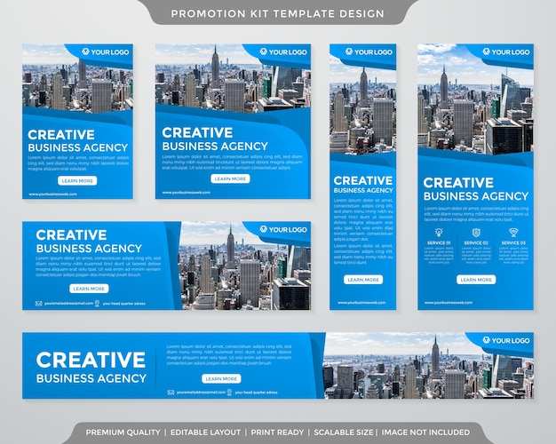 Kolekcja banerów reklamowych w mediach społecznościowych