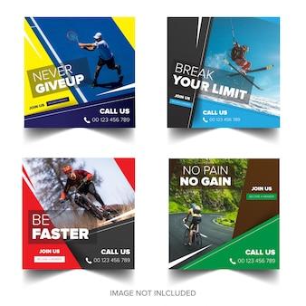 Kolekcja banerów sportowych