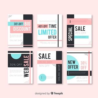 Kolekcja banerów sprzedażowych dla mediów społecznościowych