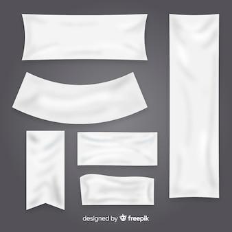 Kolekcja banerów tekstylnych