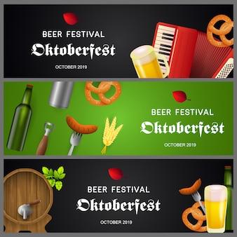 Kolekcja bannerów oktoberfest