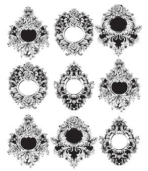 Kolekcja barokowych okrągłych klatek