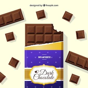 Kolekcja batonów i wyrobów czekoladowych o różnych kształtach i smakach