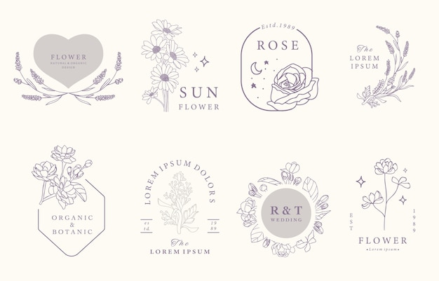 Kolekcja beauty occult design z lawendą, jaśminem, różą.