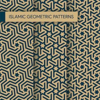 Kolekcja bez szwu islamskich geometryczne wzory tekstury