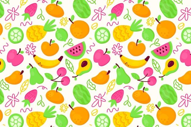 Kolekcja bez szwu owoców egzotycznych cytrusów