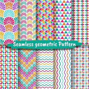 Kolekcja bezszwowych wzorów geometrycznych