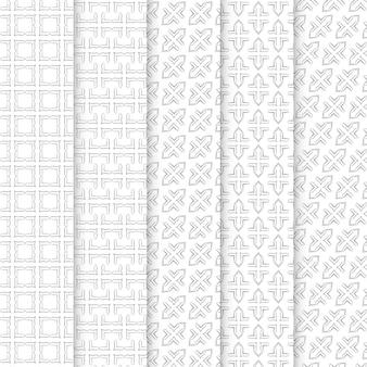 Kolekcja bezszwowych wzorów ozdobnych