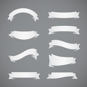 Kolekcja białymi wstążkami