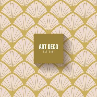 Kolekcja biały i złoty wzór w stylu art deco