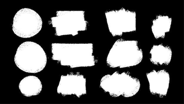 Kolekcja białych teture grunge