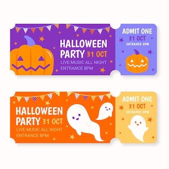 Kolekcja biletów na halloween