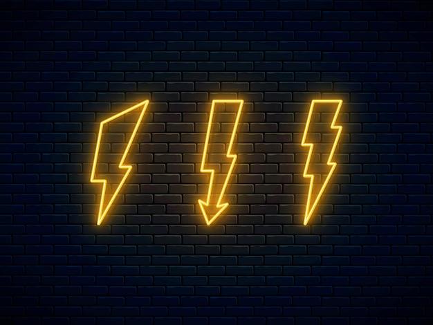 Kolekcja błyskawicy neon