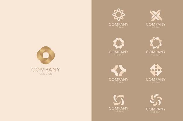 Kolekcja brązowych logo firmy