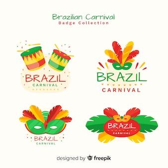 Kolekcja brazylijskich karnawałowych etykiet