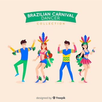 Kolekcja brazylijskich tancerzy karnawałowych