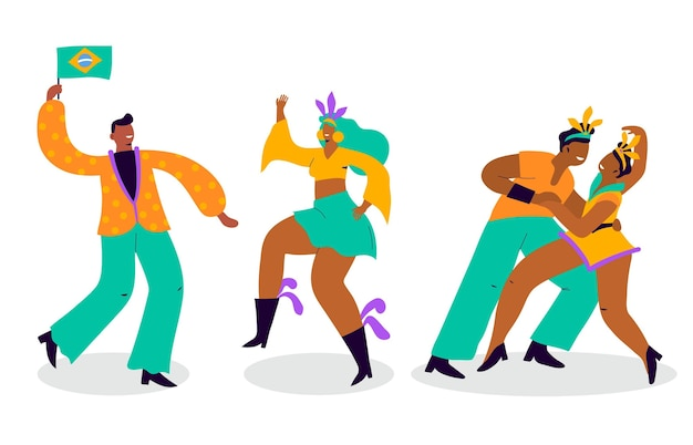 Kolekcja brazylijskiej tancerki karnawałowej
