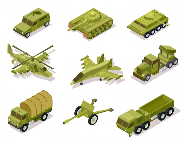 Kolekcja broni pancerza.