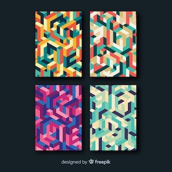 Kolekcja broszur w stylu izometrycznym