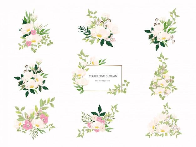 Kolekcja bukiet ślubny kwiatowy