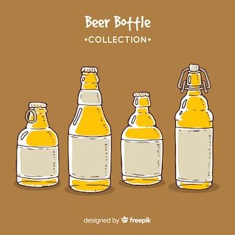 Kolekcja butelek piwa