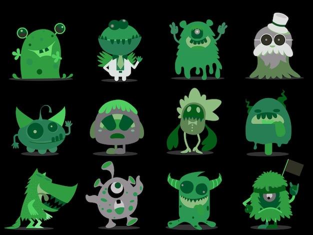 Kolekcja cartoon monsters