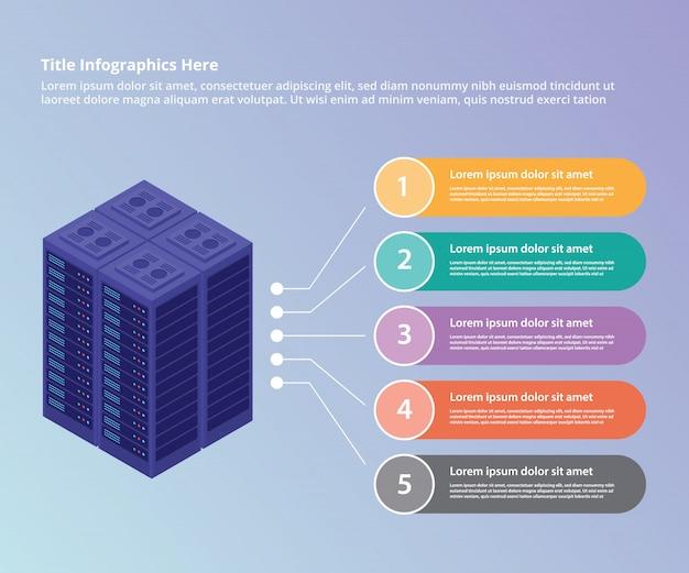 Kolekcja centrum danych serwera