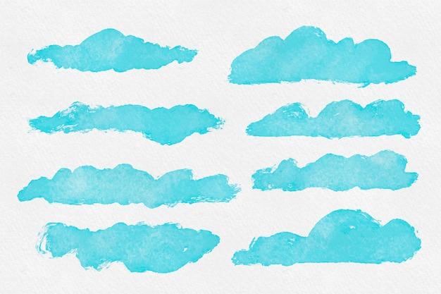 Kolekcja chmur akwarelowych