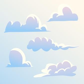 Kolekcja chmur kreskówka cartoon