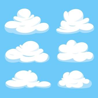 Kolekcja chmur kreskówka