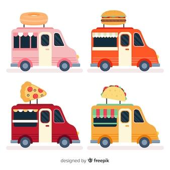 Kolekcja ciężarówek spożywczych