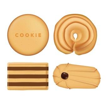 Kolekcja ciasteczek flat lay assorted