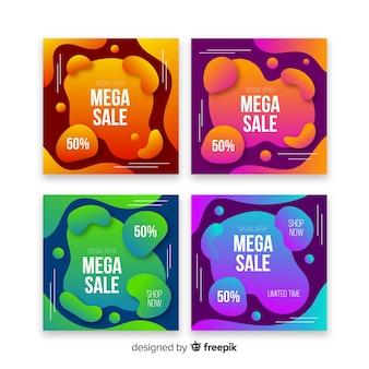 Kolekcja cieczy na instagramie po sprzedaży