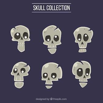 Kolekcja ciemne czaszki