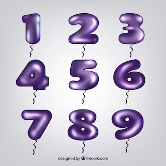 Kolekcja ciemnofioletowego numeru