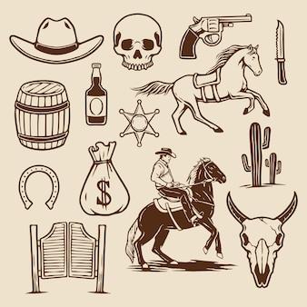 Kolekcja cowboy element
