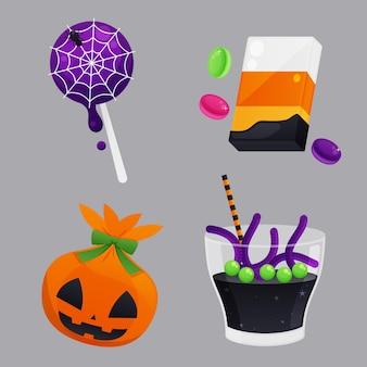 Kolekcja cukierków halloween