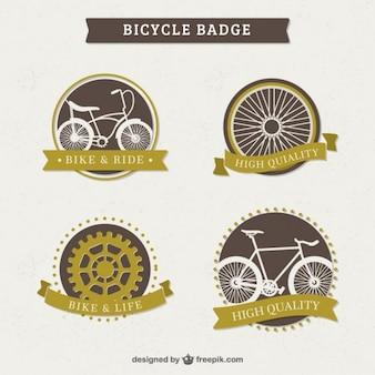 Kolekcja cute etykiecie rocznika rower