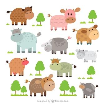 Kolekcja cute krowy