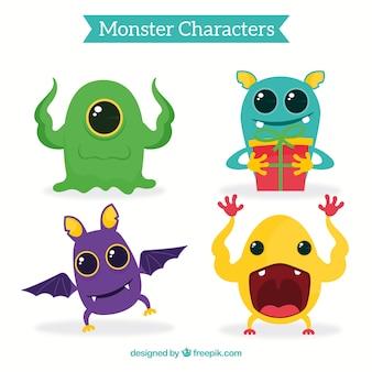 Kolekcja cute potworów